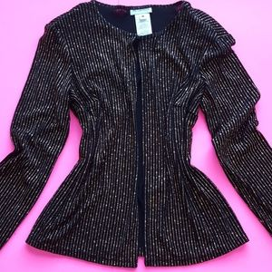 Vintage Black & Gold Striped Cardigan